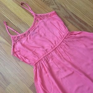 Coral Lace Skater Dress NWT